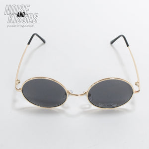 Circle Lens Sunglass (Black)