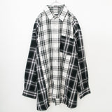 Super Big Silhouette L/S Plaid Shirt (2 color)