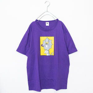 TOM & JERRY Umbrella S/S T-shirt (Purple)