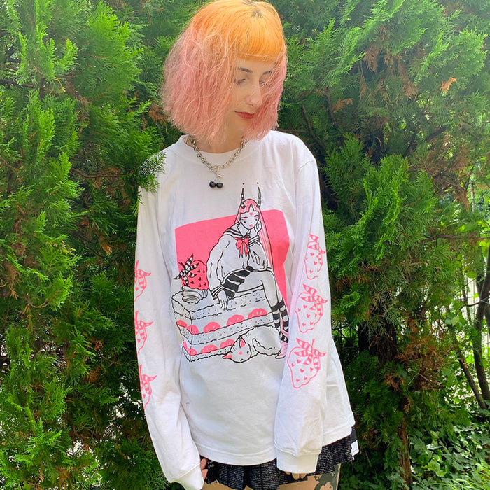 TRACY x NOIKISU Short Cake Girl L/S T-shirt (2 color)