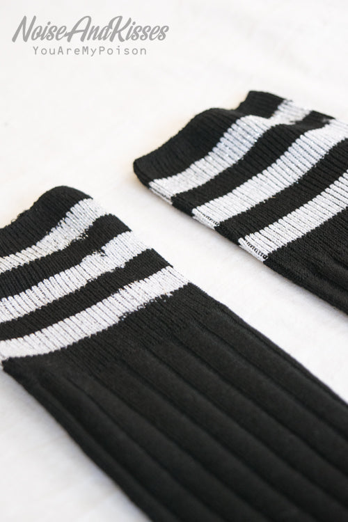 Sporty High Line Socks (Silver)