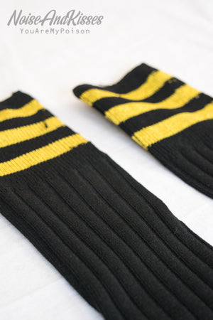 Sporty High Line Socks (Glitter Yellow)