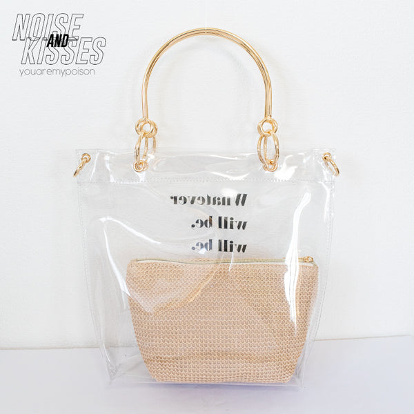 2WAY Clear Tote Bag w/Pouch