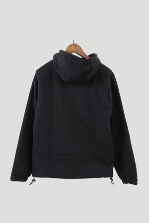 Windproof Mens Mountain Hoodie Top (Black)