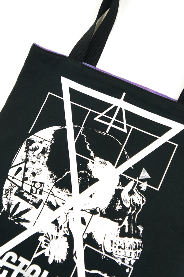 XTS Nyctophilia Skull x Tie-dye Reversible Soft Tote Bag - YOU ARE MY POISON