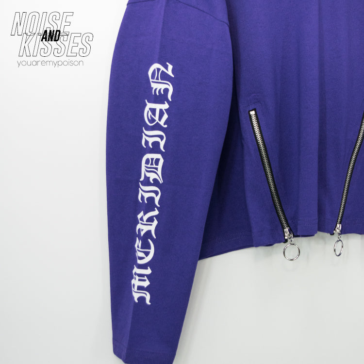 Zipper Logo Sleeve Top (5 color)