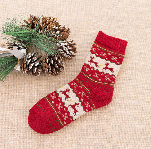 Winter Reindeer Wool Socks - Sheepiefy