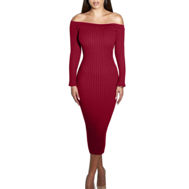 """Aphrodite"" Sexy Slim Dress - Sheepiefy"