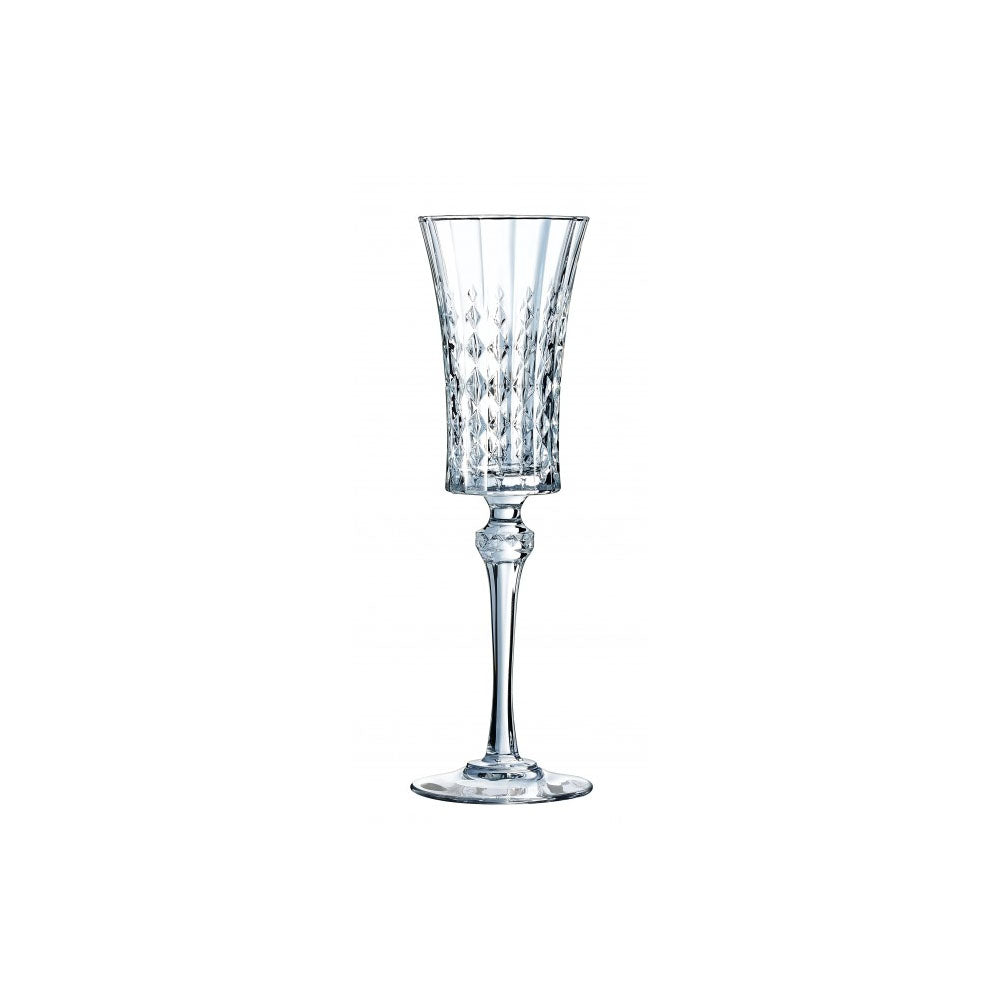 ECLAT (LADY DIAMOND CHAMPAGNE FLUTE) (6 PIECES) CRISTAL GLASS