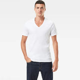MENS G-STAR RAW (BASIC) (V-NECK) (2-PACK) T-SHIRT