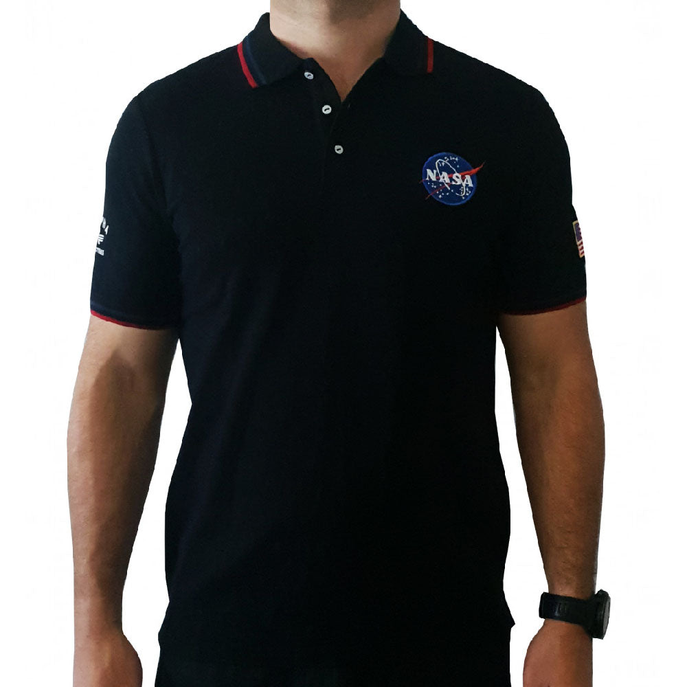 ALPHA INDUSTRIES MEN'S (NASA POLO) T-SHIRT