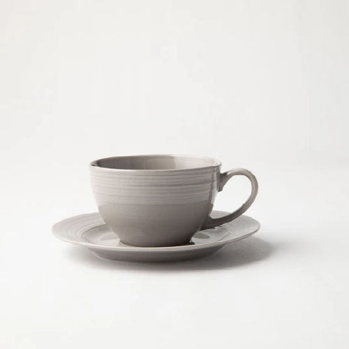 JENNA CLIFFORD (JC-7076) (EMBOSSED LINES) CUP & SAUCER