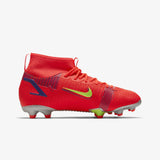 NIKE KIDS (CV1127-600) (MERCURIAL SUPERFLY 8 ACADEMY MG) MULTI-GROUND FOOTBALL BOOT