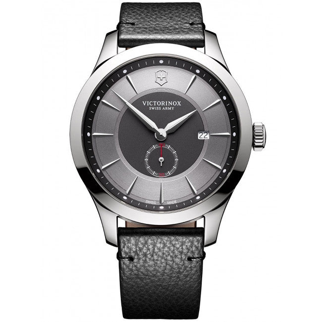Victorinox Alliance Grey Dial Leather Strap