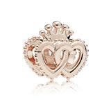 PANDORA (INTERLOCKED CROWNED HEARTS) CHARM