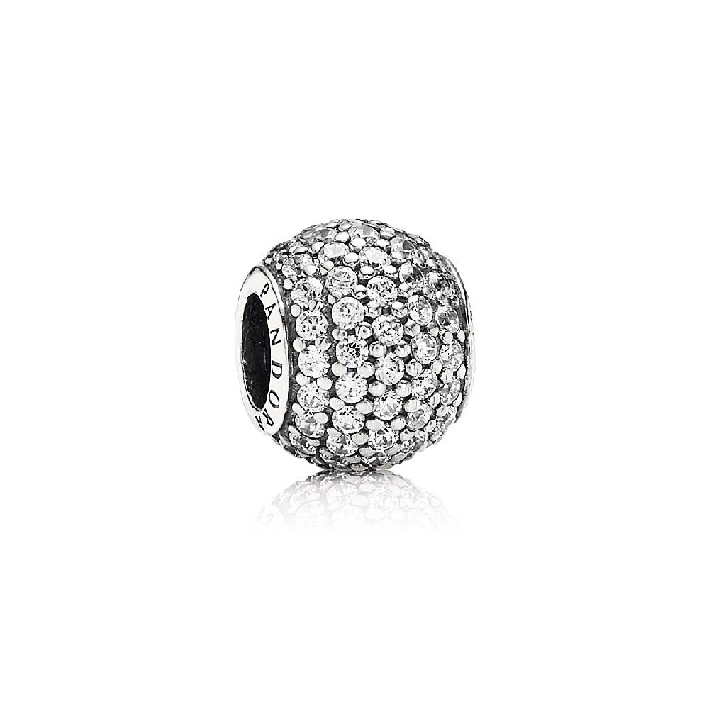 PANDORA (ABSTRACT PAVE SILVER) CHARM