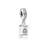 PANDORA (BIRTHDAY CARD SILVER DANGLE) CHARM