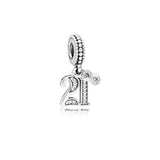 PANDORA (21 DANGLE WITH CLEAR CUBIC ZIRCONIA) CHARM