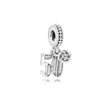 PANDORA (50 DANGLE WITH CLEAR CUBIC ZIRCONIA) CHARM
