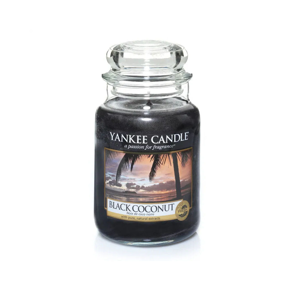 YANKEE CANDLE (BLACK COCONUT) CANDLE