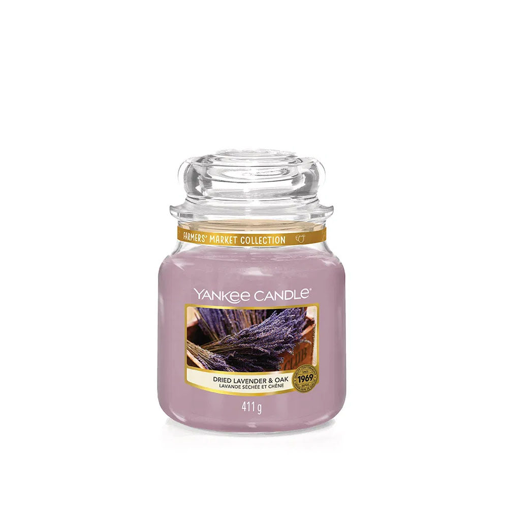 YANKEE CANDLE (DRIED LAVENDER & OAK) CANDLE