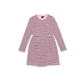 POLO LITTLE GIRLS (HARPER LONG SLEEVE) (PINK & NAVY) DRESS