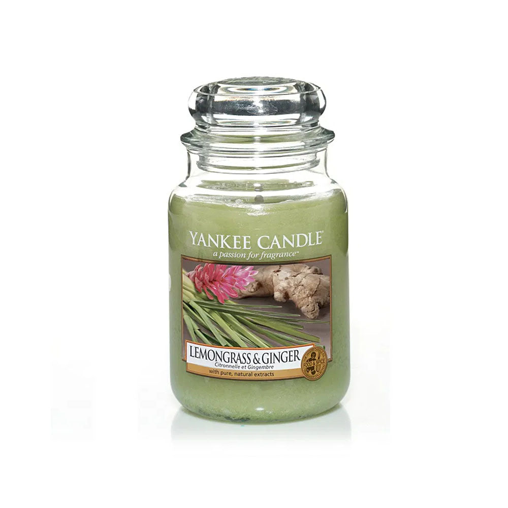 YANKEE CANDLE (LEMONGRASS & GINGER) (LARGE) CANDLE