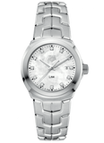 TAG HEUER LINK WHITE MOP DIAMOND DIAL WATCH