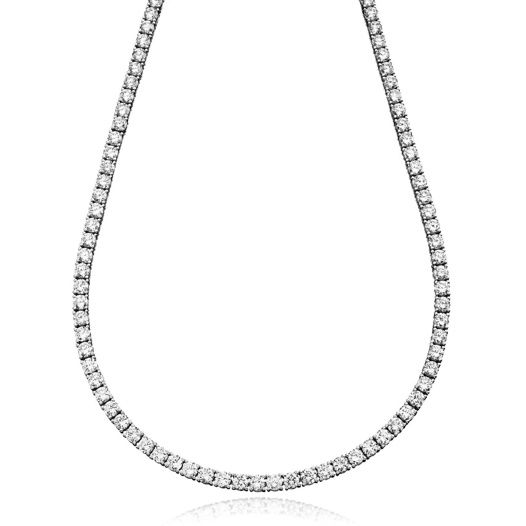 18CT (WHITE GOLD) (CLASSIC TENNIS DIAMOND) NECKLACE