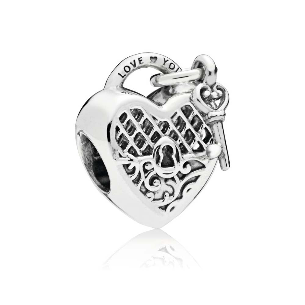 PANDORA (HEART PADLOCK AND KEY) CHARM