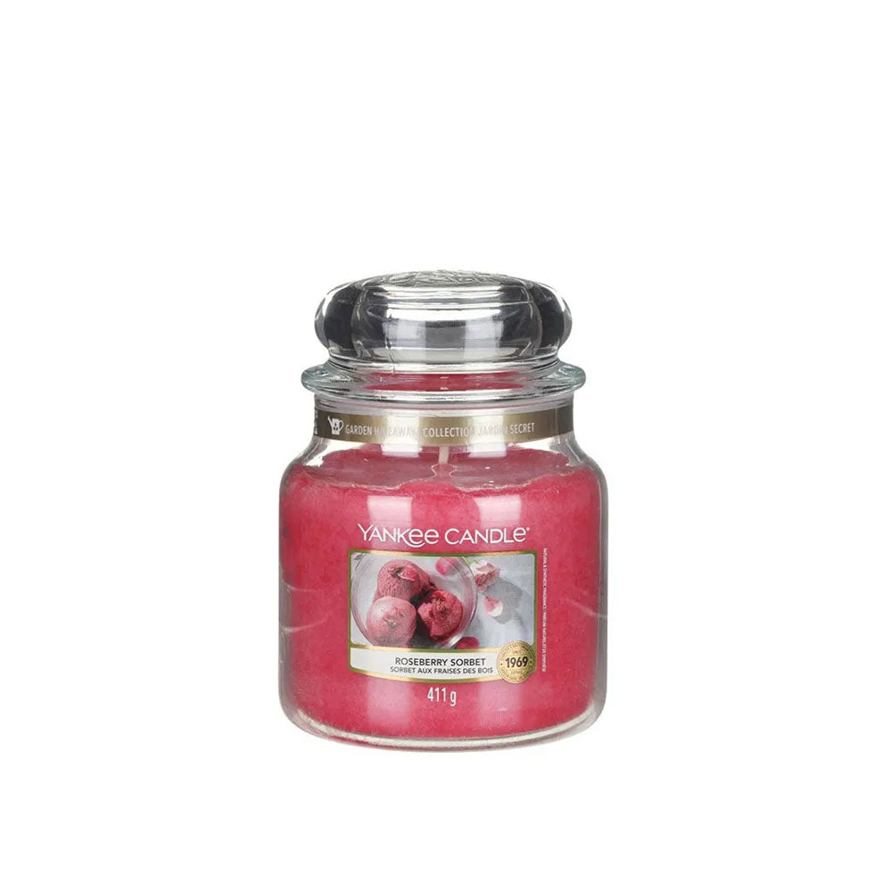 YANKEE CANDLE (ROSEBERRY SORBET) CANDLE