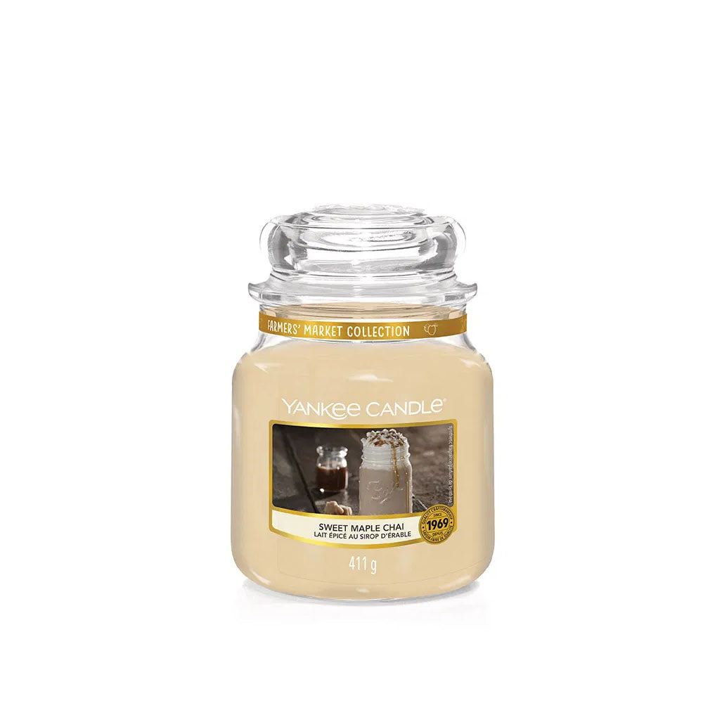 YANKEE CANDLE (SWEET MAPLE CHAI) CANDLE