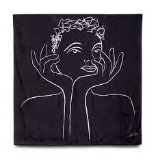 CaRRoL BoYeS (RADIANT BLACK) SCARF SILK