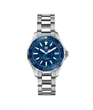 TAG HEUER AQUARACER BLUE DL AND BL BZL SS STRAP