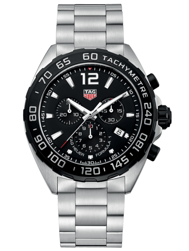 TAG HEUER FORMULA 1 GENTS CHRONOGRAPH BLACK DIAL