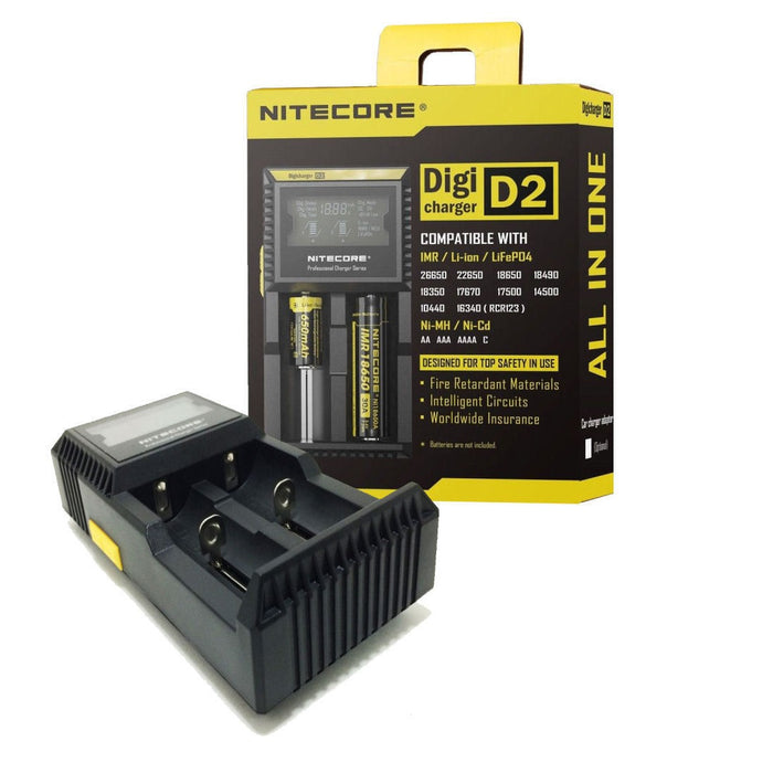 Nitecore D2 Two Battery Charger - Vapefiend