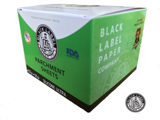 "Black Label Paper Co. Parchment Paper Sheets, Bleached 4""x4"" Silicone ULTRA - Vapefiend"