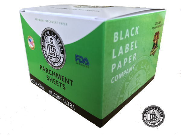 "Black Label Parchment Paper Sheets, Bleached 4""x4"" Silicone ULTRA 35lb - Vapefiend UK"