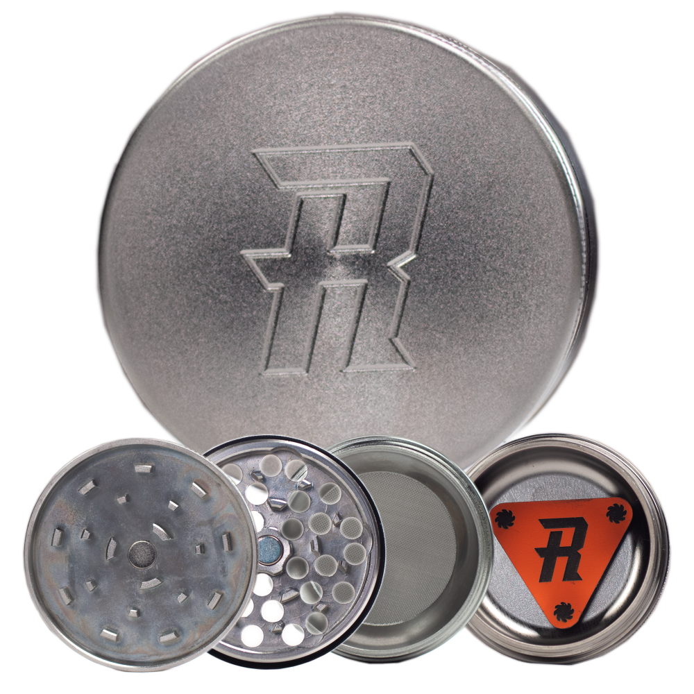 Herb Ripper Stainless Steel Grinder (4-piece) - Vapefiend UK