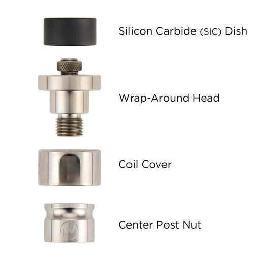 FlowerPot SiC Wrap-Around Head Set 20mm - Vape fiend