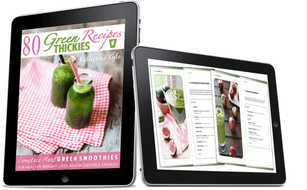 80 Green Thickies Recipe eBook (Complete Meal Green Smoothie Recipes) + FREE Smoothie Bottle