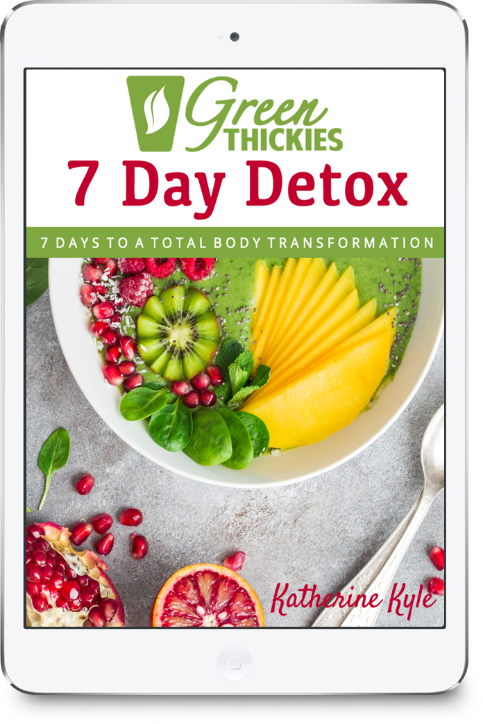 Green Thickies 7 Day Green Smoothie Detox eBook + FREE Smoothie Bottle