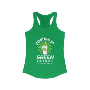 Powered By Green Thickies Ladies Tank Top