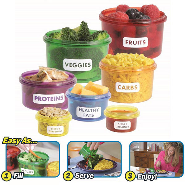 Portion Control Food Cups (7 Piece Set)