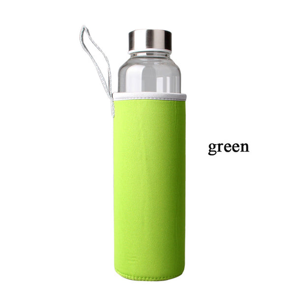 Glass Smoothie Bottle With Bottle Bag