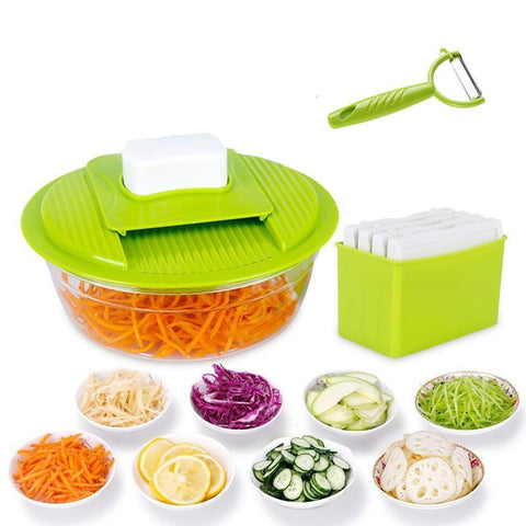 Magical Mandoline Slicer With Food Tray And Hand Guard
