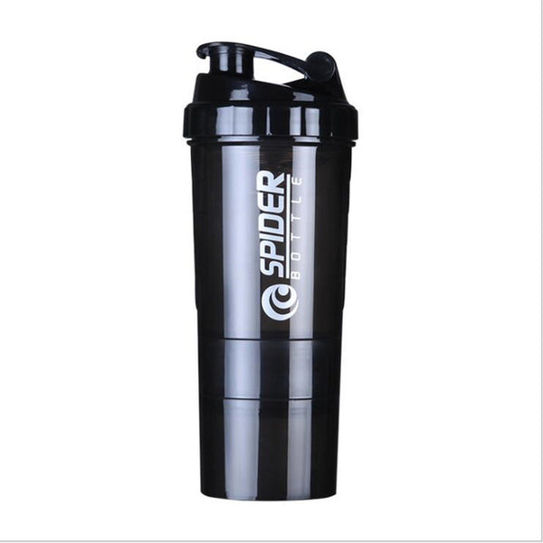 3 Layers Protein Powder Shaker Bottle