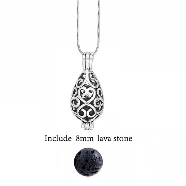 Antique Vintage Essential Oils Aromatherapy Diffuser Necklace + FREE Essential Oils eBook