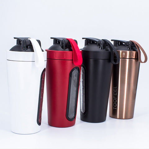 Stainless Steel Protein Powder Shaker Bottle