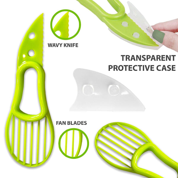 3 In 1 Avocado Slicer Corer Cutter Tool (Special Offer)